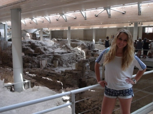 Here I am posing for a picture, to prove that was actually at Ancient Akrotiri. I was amazed at how advanced the Minoan people were for their time.