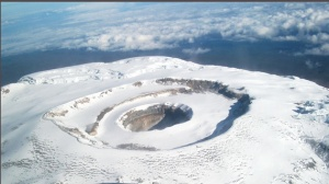 Example of a nested caldera found on Kilimonjaro