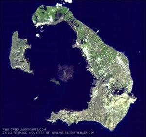 Present day Santorini