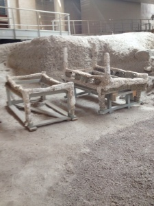 Stacked beds found at Akrotiri excavation site