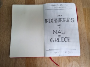 Title page of my field notebook.