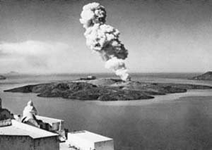 1950 eruption of Nea Kameni shield volcano