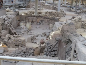 What is inferred to be a market place preserved by the pumice fall of Phase 1 of the Minoan eruption.