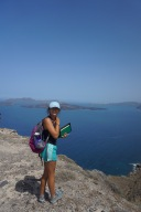 Becca at the top of Cape Plaka