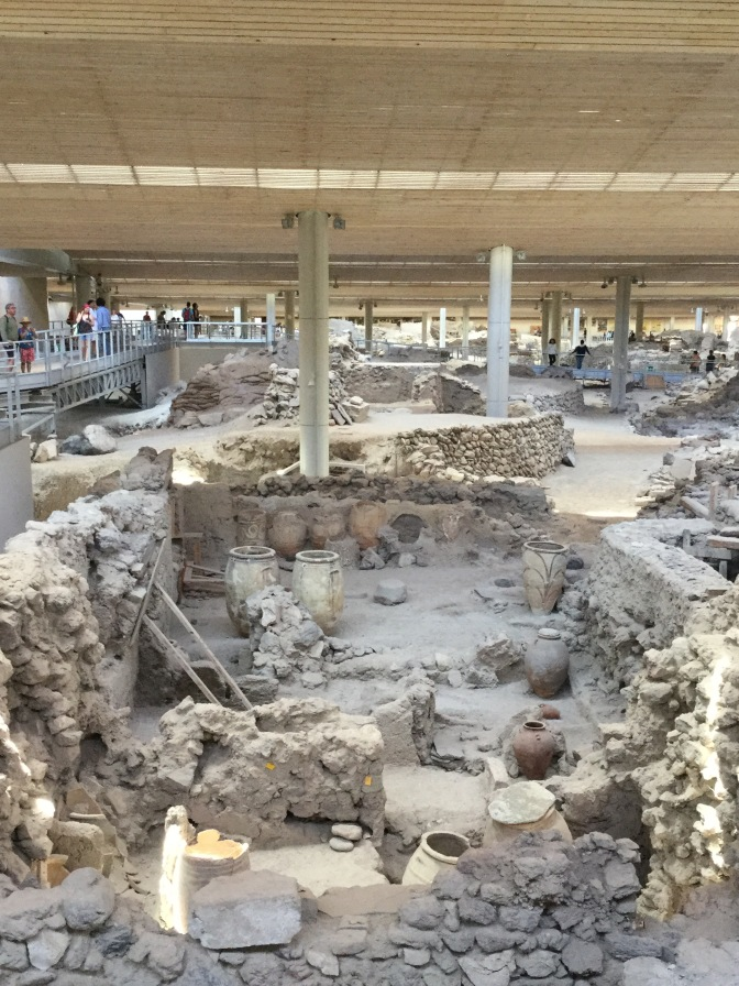 What lies beneath?  New discoveries at Ancient Akrotiri.