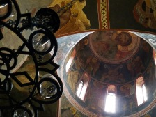 This is an interior image of the church for a different view and feel for it. The interior has certain preserved illustrations all over the ceilings and walls, which tells a story of its history within itself. (Figure 5)