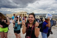 Ellen at the Acropolis
