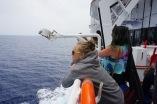 Emily contemplating the Aegean
