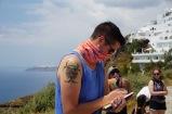 Ben at work at Fira Quarry