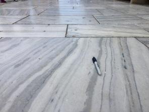 """βʹ-2. This road is the pathway to the iconic marble Parthenon at the Acropolis of Athens. Since Greece has been a place with a """"glowing"""" reputation dating back to the Golden Age in the 5th century B.C, marble has been a favorite construction rock because of its beauty and rigidity against the elements."""