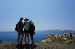 Tayler, Sheridan, and Naya overlooking the caldera (view to the south)