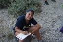 Ellen at work in Fira Quarry.