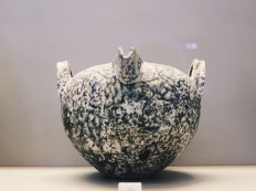 To my amazement, I found a vase shaped from diorite, an intrusive ingneous rock from intermediate-categorized magma.