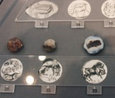 """Many gold jewelry was imprinted with stamps made from a gemstone called a """"sealstone"""" (pictured) and other forms of molds."""
