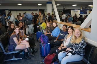 The group excited at the airport (before our travel woes) (2018)