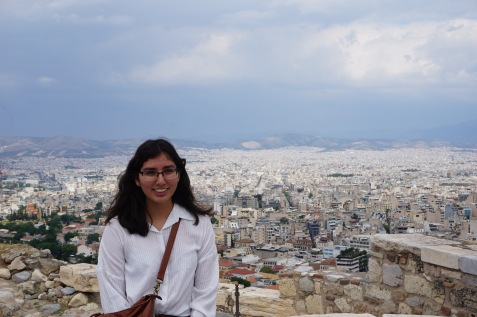 Brittany on the Acropolis (view to the south of Athens)