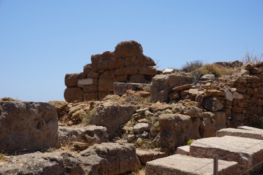Fortress walls built during the Peloponnesian War to protect the Temple of Poseidon from Spartan invasion