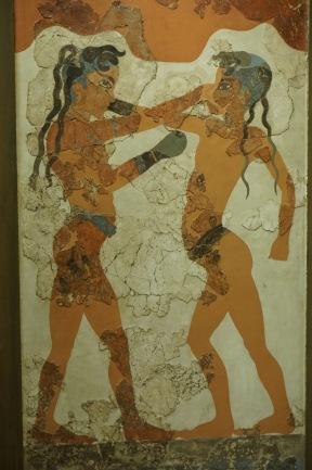 """The Boxers"" fresco excavated from Akrotiri (~ 1613 BC)"