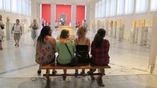 From right: Zegri, Sarah, Emily, and Tib inside the National Archaeological Museum