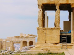 "Figure 8: While tourism is helping to bring Greece out of bankruptcy, there are concerns that it still will not cover the Acropolis' bill. This also impacts workers who are hired on contract. Nikos Toganides, an Acropolis worker, stated that the project is taxing because people ""don't know when the next lot of money is coming."" He also claims that he and his team had not been paid in three months. (3)"