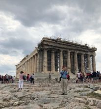 Date: June 1st, 430 BC - The Acropolis is my home. This is a picture of the Parthenon at the Acropolis. The Acropolis was built 30 years ago in 460 BC. It is dedicated to the Greek goddess Athena, who is the daughter of Zeus and goddess of wisdom. The Acropolis is versatile; it serves as a home to kings, a theater, a safehouse from invasions, and more. Tomorrow, I will be exploring the western slope of the Acropolis.